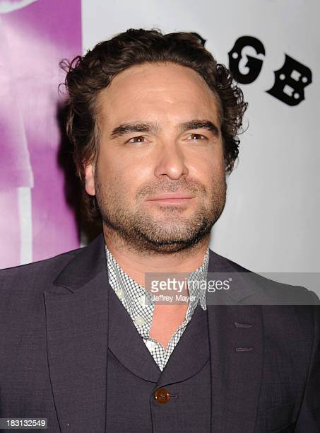 Actor Johnny Galecki arrives at the 'CBGB' Special Screening at ArcLight Cinemas on October 1 2013 in Hollywood California