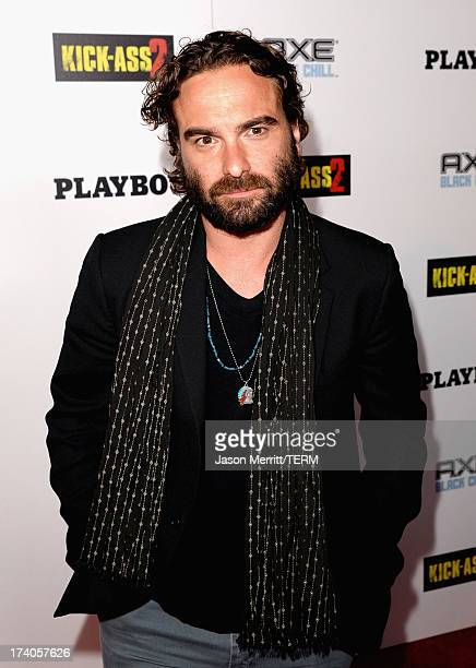 Actor Johnny Galecki arrives at the Playboy and Universal Pictures' 'KickAss 2' event at ComicCon sponsored by AXE Black Chill on July 19 2013 in San...