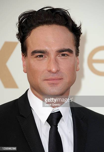 Actor Johnny Galecki arrives to the 63rd Primetime Emmy Awards at the Nokia Theatre LA Live on September 18 2011 in Los Angeles United States