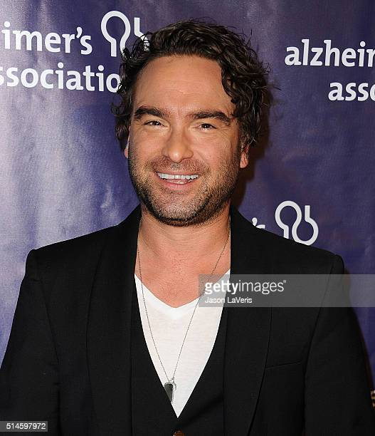 Actor Johnny Galecki attends the 2016 Alzheimer's Association's 'A Night At Sardi's' at The Beverly Hilton Hotel on March 9 2016 in Beverly Hills...