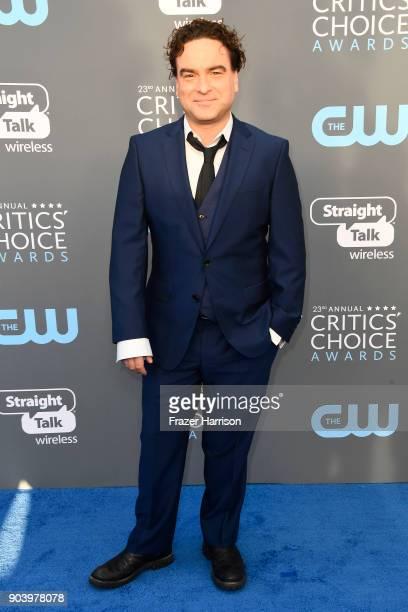 Actor Johnny Galecki attends The 23rd Annual Critics' Choice Awards at Barker Hangar on January 11 2018 in Santa Monica California