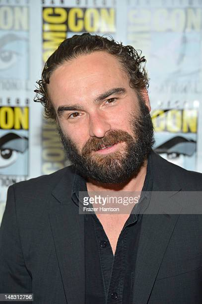 "Actor Johnny Galecki attends ""The Big Bang Theory"" Press Room during Comic-Con International 2012 held at the Hilton San Diego Bayfront Hotel on July..."