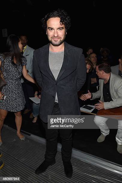 Actor Johnny Galecki attends the John Varvatos S/S 2016 runway show during New York Fashion Week Men's at Skylight Clarkson Sq on July 16 2015 in New...