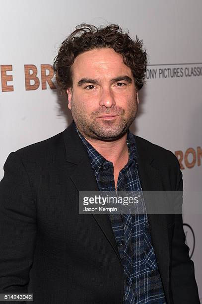 Actor Johnny Galecki attends the premiere of Sony Pictures Classics' The Bronze at the Regent Theater on March 7 2016 in Los Angeles California