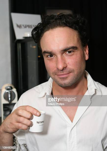Actor Johnny Galecki attends the The Lipton Green VitaliTEA Gift Lounge Backstage at the Nokia Theatre Celebrating the 61st Primetime Emmy Awards...