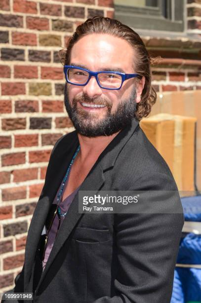 Actor Johnny Galecki enters the 'Late Show With David Letterman' taping at the Ed Sullivan Theater on June 5 2013 in New York City