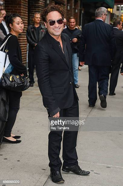Actor Johnny Galecki leaves the 'Late Show With David Letterman' taping at the Ed Sullivan Theater on October 2 2014 in New York City