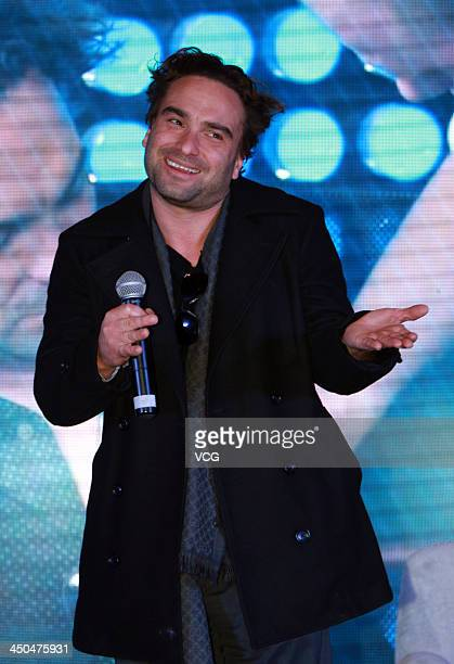 Actor Johnny Galecki meets fans at ShangriLa Hotel on November 18 2013 in Shanghai China