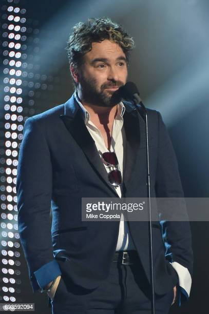 Actor Johnny Galecki speaks onstage during the 2017 CMT Music Awards at the Music City Center on June 6 2017 in Nashville Tennessee
