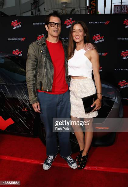 Actor Johnny Knoxville and Naomi Nelson attend 'SIN CITY A DAME TO KILL FOR' premiere presented by Dimension Films in partnership with Time Warner...