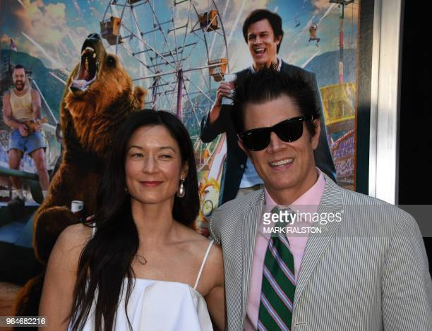 Actor Johnny Knoxville and wife Naomi Nelson arrive for the premiere of Paramount Pictures' 'Action Point' at the ArcLight Hollywood in Hollywood...
