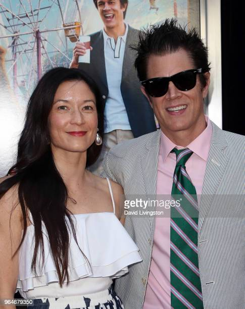 Actor Johnny Knoxville and wife Naomi Nelson attend the premiere of Paramount Pictures' 'Action Point' at ArcLight Hollywood on May 31 2018 in...