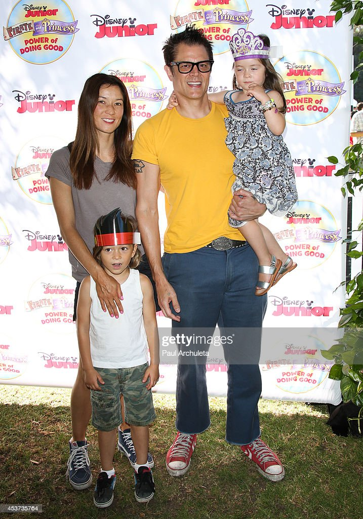 Actor Johnny Knoxville attends Disney Junior's 'Pirate And Princess: Power Of Doing Good' tour at Brookside Park on August 16, 2014 in Pasadena, California.