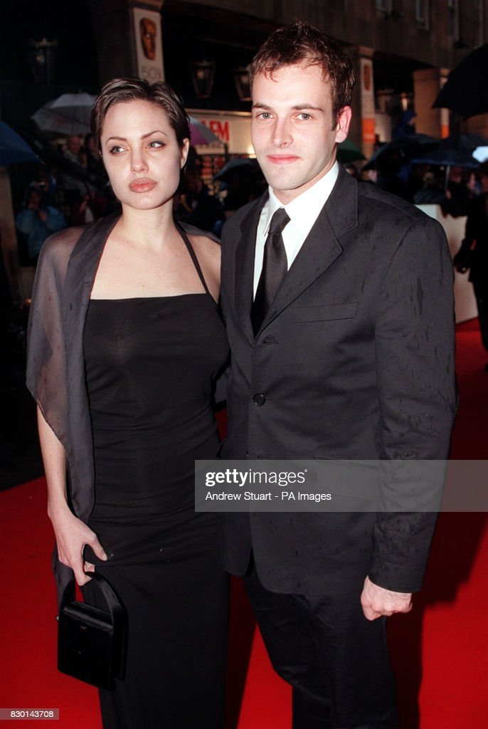 Actor Johnny Lee Miller With His Wife Actress Angelina Jolie At The Bafta Awards