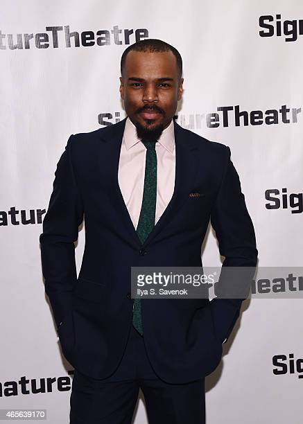 Actor Johnny Ramey attends 'The Liquid Plane' Opening Night Party at Signature Theatre Company's The Pershing Square Signature Center on March 8 2015...