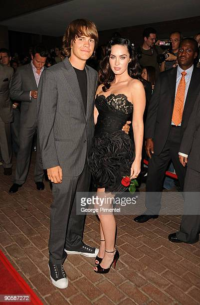 Actor Johnny Simmons and Actress Megan Fox attends the Jennifer's Body premiere at the Ryerson Theatre during the 2009 Toronto International Film...