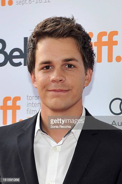 Actor Johnny Simmons attends The Perks Of Being A Wallflower premiere during the 2012 Toronto International Film Festival at Ryerson Theatre on...