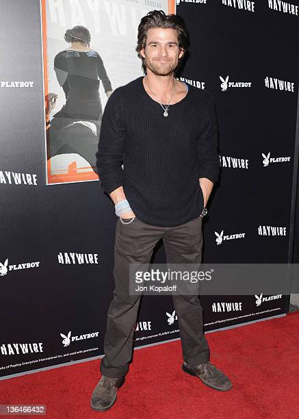 Actor Johnny Whitworth arrives at the Los Angeles Premiere 'Haywire' at Directors Guild Of America on January 5 2012 in Los Angeles California