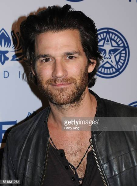 Actor Johnny Whitworth attends photo opp for Hulu's 'Obey Giant' at The Theatre at Ace Hotel on November 7 2017 in Los Angeles California