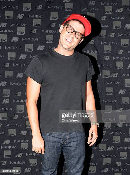 Actor Jon Abrahams attends a dance party with New Balance and James Jeans powered by ISKO at the home of Pascal Mouwad on August 19 2014 in Bel Air...
