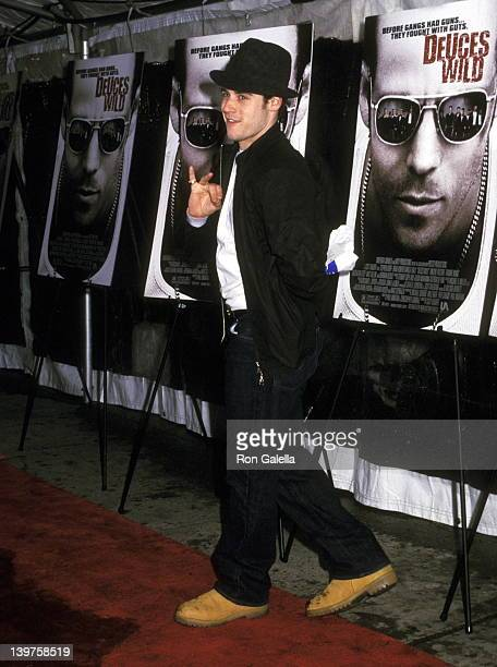 Actor Jon Abrahams attends the premiere of Deuces Wild on April 22 2002 at the Chelsea West Cinema in New York City