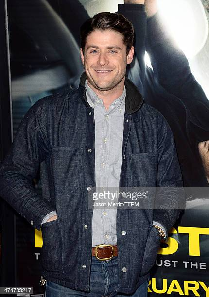 Actor Jon Abrahams attends the premiere of Universal Pictures and Studiocanal's NonStop at Regency Village Theatre on February 24 2014 in Westwood...