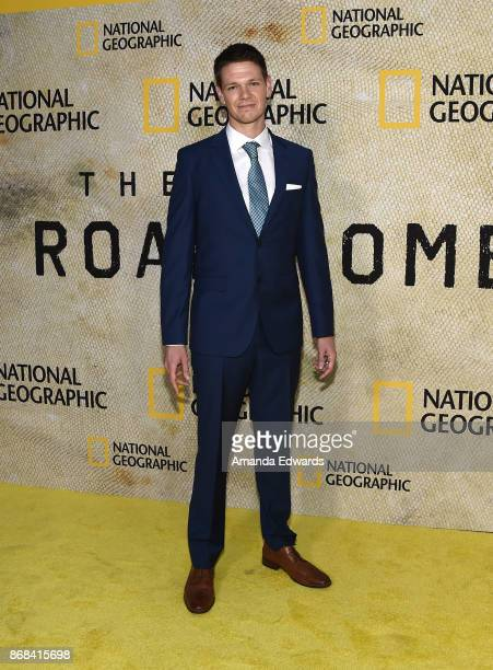 Actor Jon Beavers arrives at the premiere of National Geographic's 'The Long Road Home' at Royce Hall on October 30 2017 in Los Angeles California
