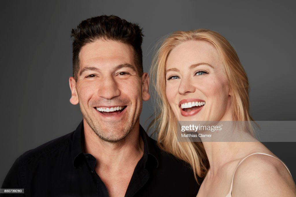 Actor Jon Bernthal and actress Deborah Ann Woll from Marvel's The Punisher are photographed for Entertainment Weekly Magazine on July 21, 2017 at Comic Con in San Diego, California. PUBLISHED