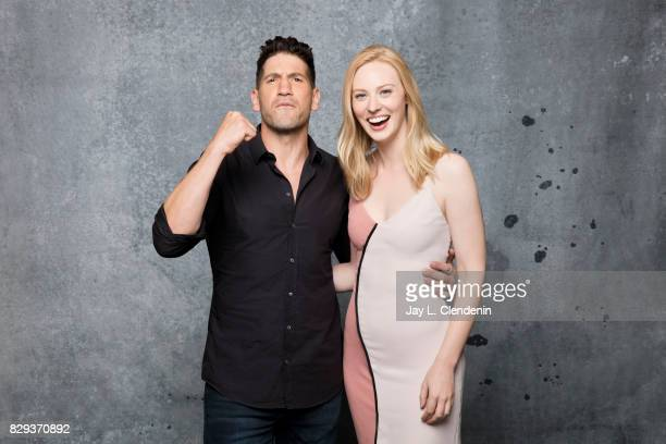 Actor Jon Bernthal and actress Deborah Ann Woll from the television series Marvel's The Punisher are photographed in the LA Times photo studio at...