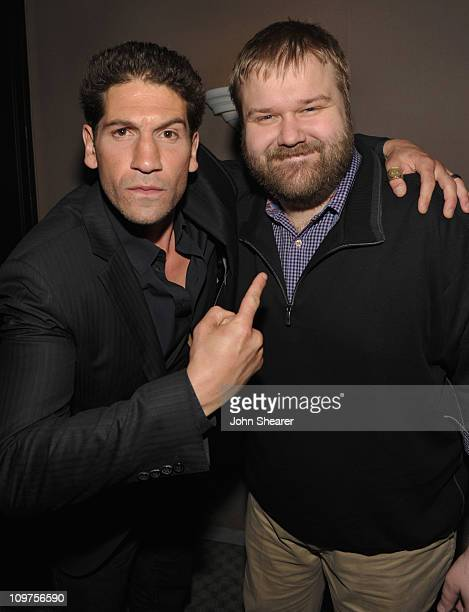 Actor Jon Bernthal and writer Robert Kirkman attend 'The Walking Dead' panel at Leonard H Goldenson Theatre on March 3 2011 in North Hollywood...