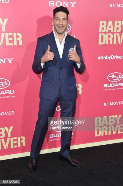 Actor Jon Bernthal arrives at the Premiere of Sony Pictures' 'Baby Driver' at Ace Hotel on June 14 2017 in Los Angeles California