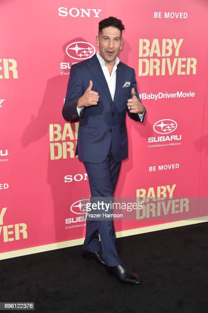 "Actor Jon Bernthal arrives at the Premiere of Sony Pictures' ""Baby Driver"" at Ace Hotel on June 14, 2017 in Los Angeles, California."