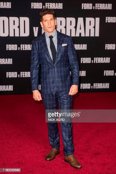 US actor Jon Bernthal arrives for the premiere of 20th Century Fox's Ford v Ferrari November 4 2019 at the TCL Chinese Theatre in Hollywood