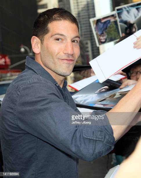 "Actor Jon Bernthal arrives to ""Late Show with David Letterman"" at Ed Sullivan Theater on March 12, 2012 in New York City."