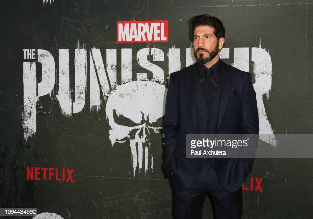 Actor Jon Bernthal attends Marvel's The Punisher Los Angeles premiere at the ArcLight Hollywood on January 14 2019 in Hollywood California