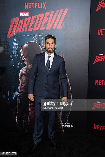 """Actor Jon Bernthal attends the """"Daredevil"""" Season 2 premiere at AMC Loews Lincoln Square 13 theater on March 10, 2016 in New York City."""
