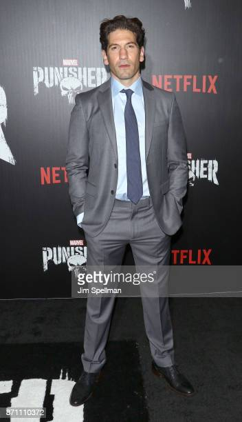 Actor Jon Bernthal attends the 'Marvel's The Punisher' New York premiere at AMC Loews 34th Street 14 theater on November 6 2017 in New York City