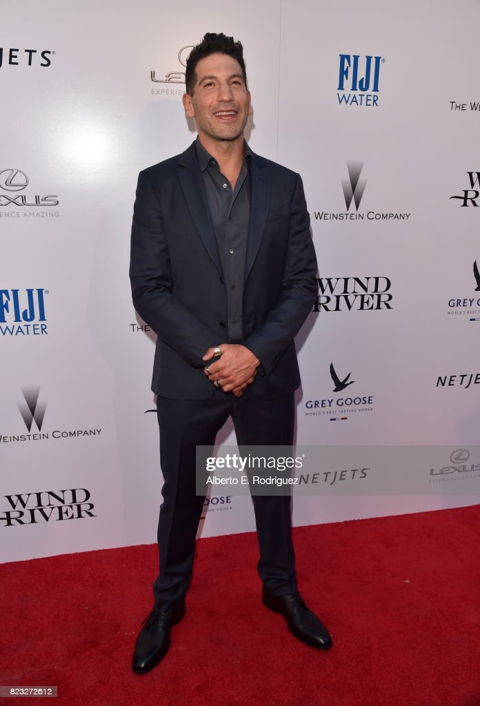 Actor Jon Bernthal attends the premiere of The Weinstein Company's 'Wind River' at The Theatre at Ace Hotel on July 26, 2017 in Los Angeles, California.