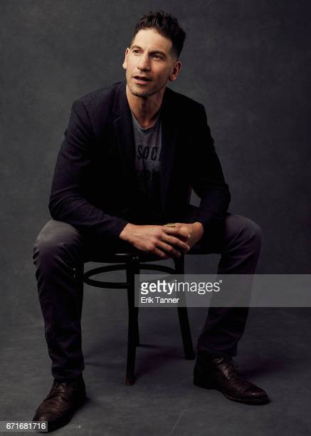 Actor Jon Bernthal from 'Sweet Virginia' poses at the 2017 Tribeca Film Festival portrait studio on on April 22, 2017 in New York City.
