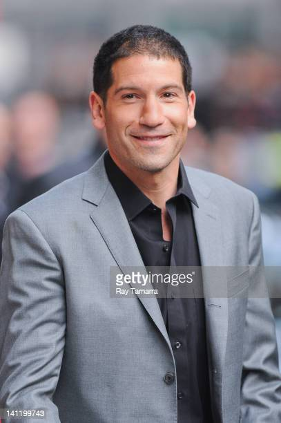 "Actor Jon Bernthal leaves the ""Late Show With David Letterman"" taping at the Ed Sullivan Theater on March 12, 2012 in New York City."