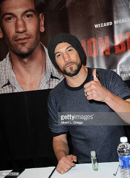 Actor Jon Bernthal on day 3 of Wizard World Comic Con New Orleans held at New Orleans Morial Convention Center on January 10 2016 in New Orleans...
