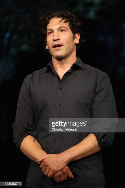 Actor Jon Bernthal speaks about 'Ghost Recon Breakpoint' during the Ubisoft E3 2019 Conference at the Orpheum Theatre on June 10 2019 in Los Angeles...