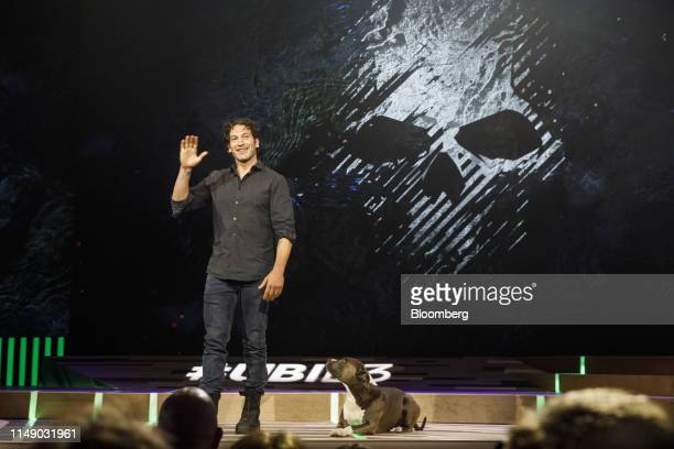 Actor Jon Bernthal speaks about Tom Clancy's Ghost Recon Breakpoint video game during a Ubisoft Entertainment SA event ahead of the E3 Entertainment...