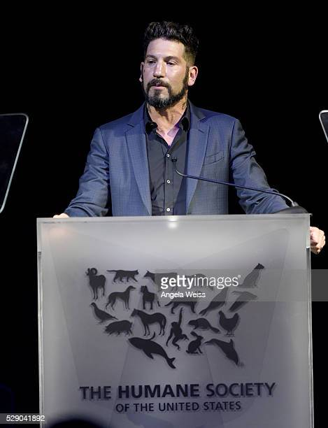 Actor Jon Bernthal speaks onstage during The Humane Society of the United States' to the Rescue Gala at Paramount Studios on May 7 2016 in Hollywood...