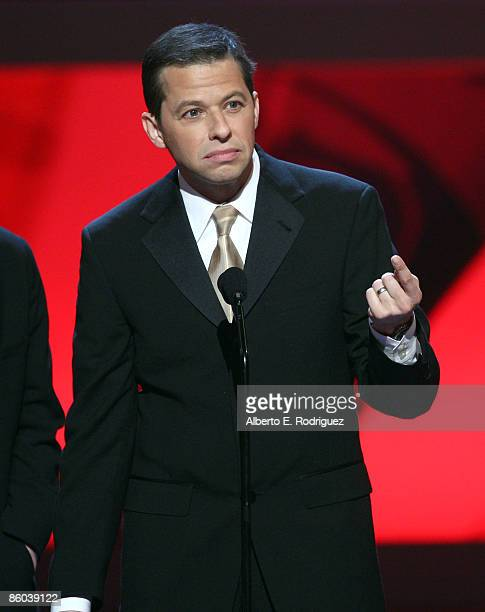 "Actor Jon Cryer accepts the Future Classic Award for ""Two and a Half Men"" onstage at the 7th Annual TV Land Awards held at Gibson Amphitheatre on..."