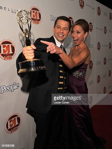 Actor Jon Cryer and guest arrive at the 13th Annual Entertainment Tonight and People Magazine Emmys After Party at the Vibiana on September 20, 2009...