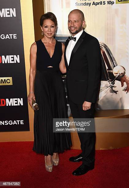 Actor Jon Cryer and guest attend the AMC celebration of the final 7 episodes of Mad Men with the Black Red Ball at the Dorothy Chandler Pavilion on...