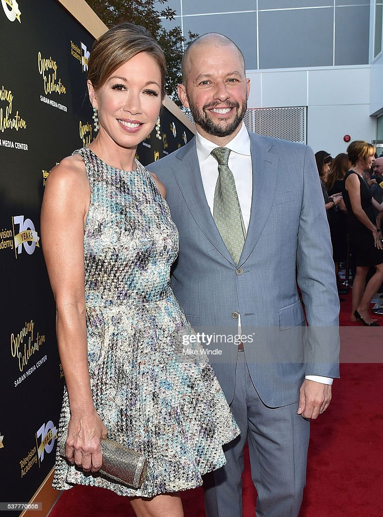 Actor Jon Cryer (R) and Lisa Joyner attend the Television Academy's 70th Anniversary Gala on June 2, 2016 in Los Angeles, California.