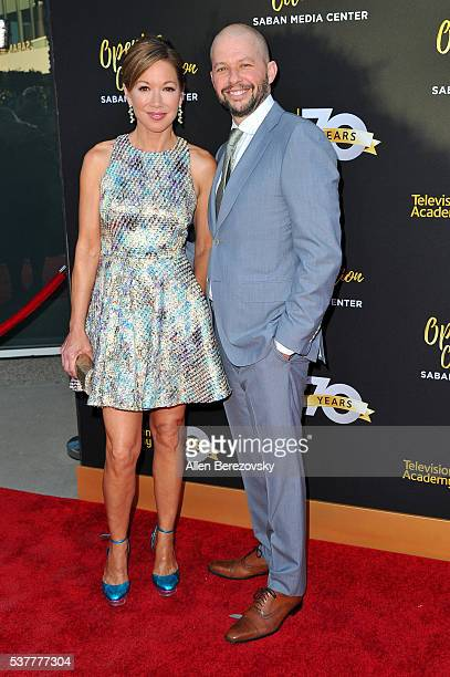 Actor Jon Cryer and Lisa Joyner attend the Television Academy's 70th Anniversary Gala on June 2 2016 in Los Angeles California
