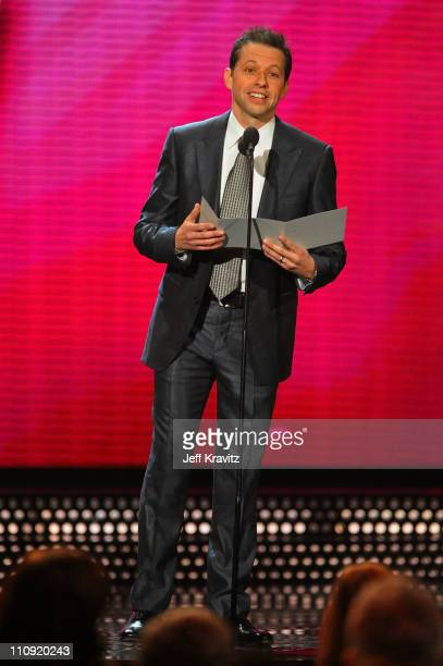 Actor Jon Cryer speaks onstage at the First Annual Comedy Awards at Hammerstein Ballroom on March 26, 2011 in New York City.
